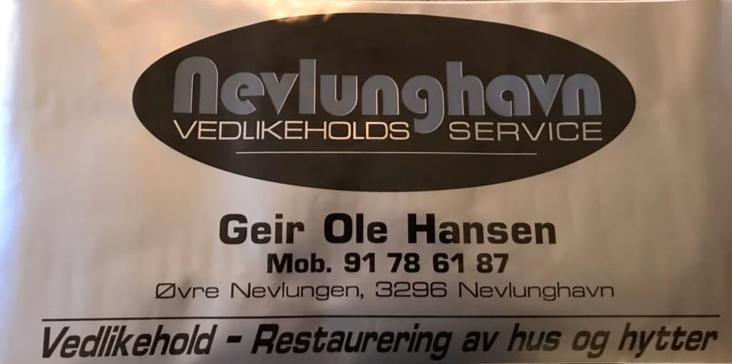 Kontakt opplysninger Nevlunghavn hytte og vedlikeholdsservice