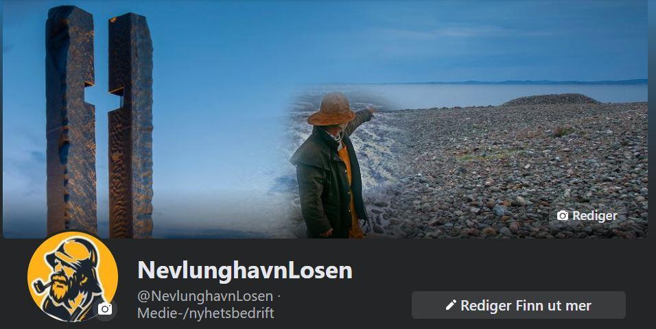 Bilde av forsiden til facebook siden nevlunghavnlosen