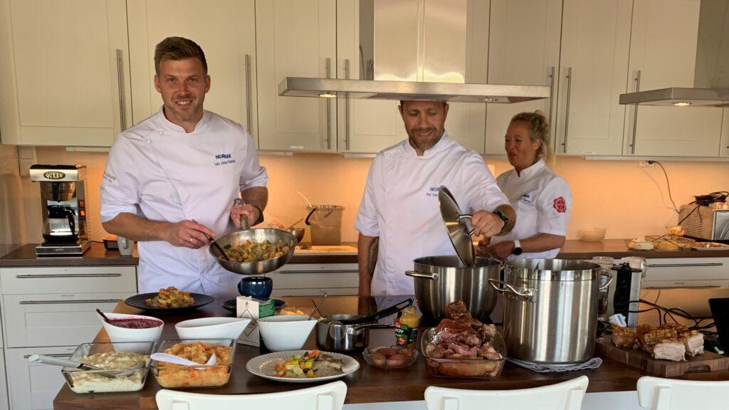 Prøvekjøkkenet til Norrek er bemannet av dyktige kokker