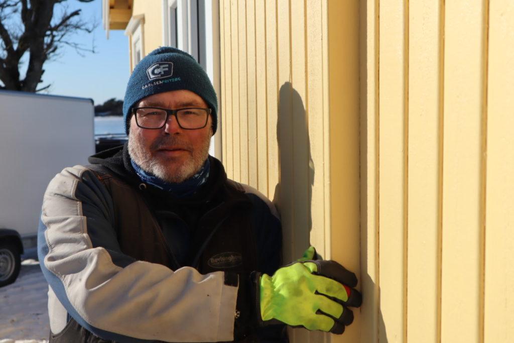 Nevlunghavn Vedlikeholdservice viser Etterisolert hytte på Mølen